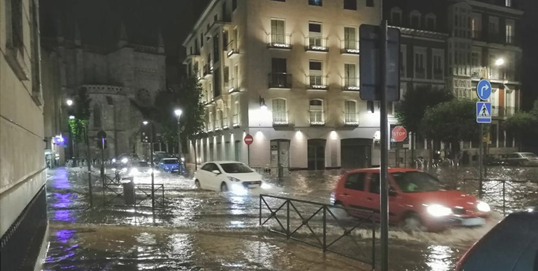 Cómo solicitar indemnizaciones tras las trombas del pasado día 17 en Valladolid