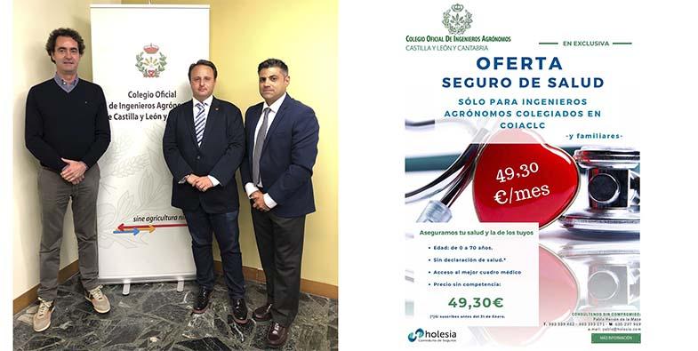 Acuerdo de Colaboración entre el Colegio Oficial de Ingenieros Agrónomos de Castilla y León y Cantabria -COIACLC- y Holesia, Correduría de Seguros